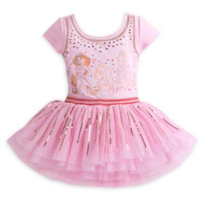 Disney Prinsessor Premium, set med leotard och ballerinakjol för barn