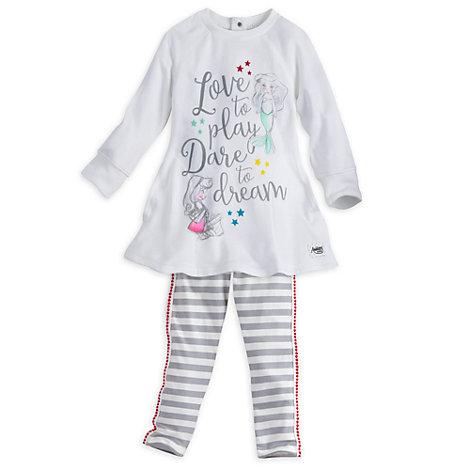Completo maglia e legging bimbi collezione Disney Animators