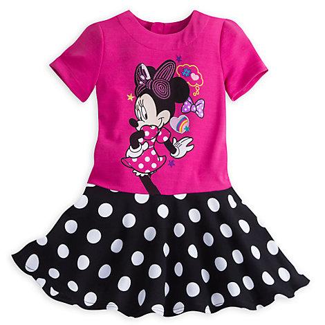Polkaprikket Minnie Mouse kjole