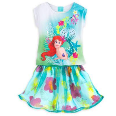Ariel-sæt med top og nederdel til børn