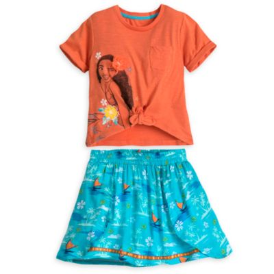 Moana Top and Skirt Set For Kids