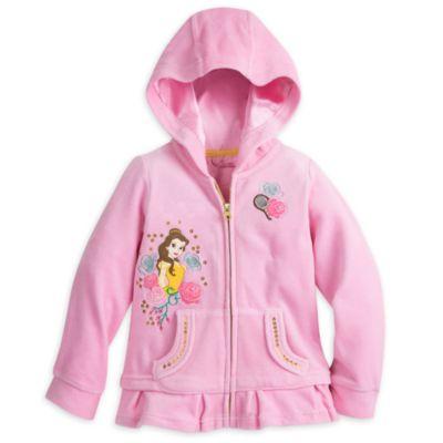 Belle Velour Hooded Zip-Up Sweatshirt For Kids
