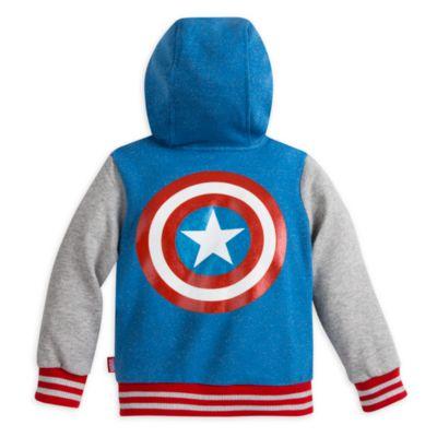 Chaqueta de niña estilo universitario Capitán América