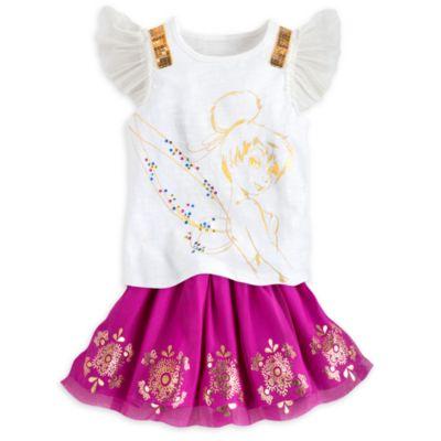 Ensemble jupe Fée Clochette pour enfants