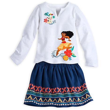 Moana Top and Skirt Set For Kids