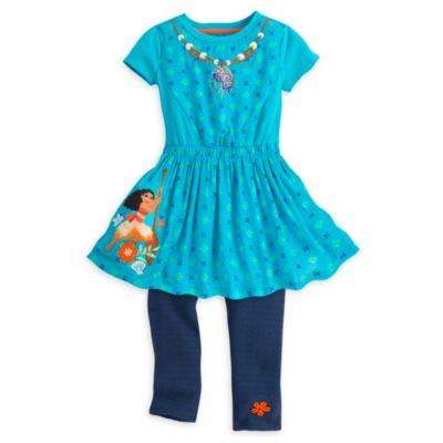 Moana Dress and Leggings Set For Kids