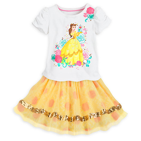 Belle Top and Skirt Set For Kids