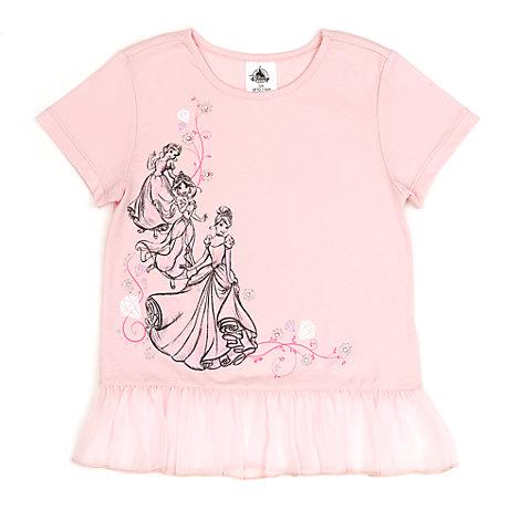 Camiseta infantil de princesas Disney