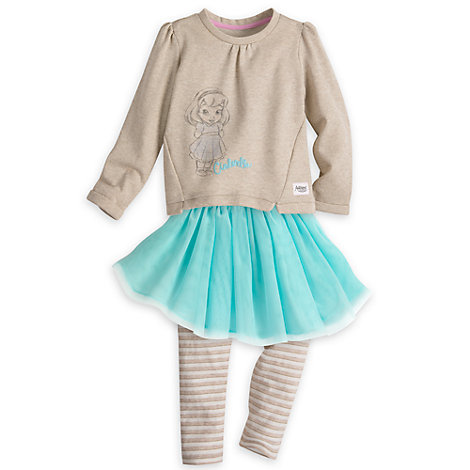 Disney Animators' Collection Top and Leggings with Tutu Set For Kids