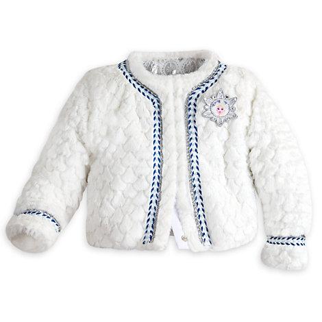 Manteau d'hiver en fausse fourrure de luxe La Reine des Neiges pour enfants