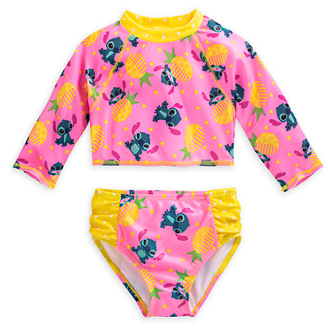 Stitch 2 Piece Rash Top Set For Kids