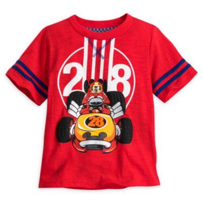 Musse Pigg Racergänget-set med t-shirt och shorts i barnstorlek