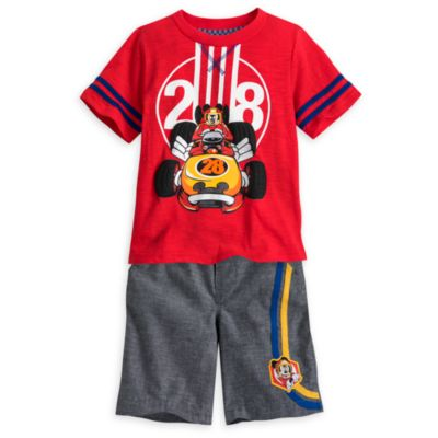 Mickey Mouse Roadster Racers T-Shirt and Shorts Set For Kids