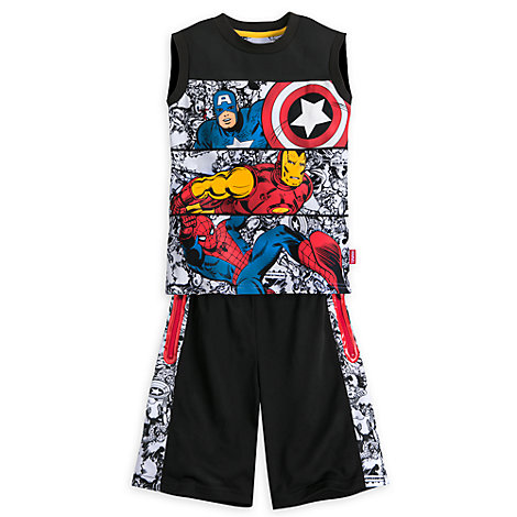 The Avengers - Set mit Top und Shorts für Kinder
