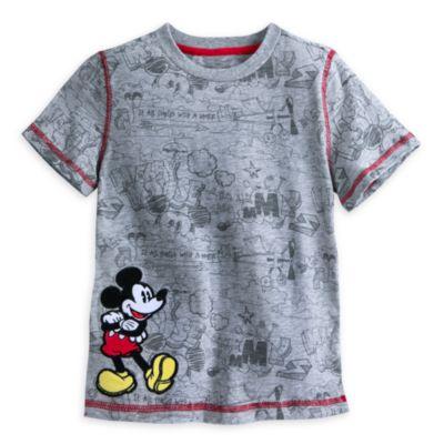 Mickey Mouse sæt med vest og T-shirt til børn