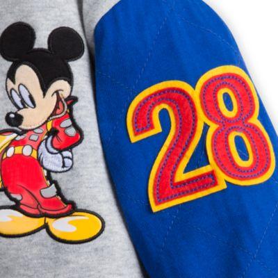 Cazadora infantil estilo universitario de piloto de carreras Mickey Mouse