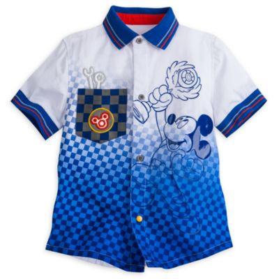 Camisa infantil de piloto de carreras Mickey Mouse