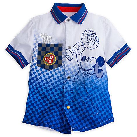 Mickey Mouse Racerholdet-skjorte til børn