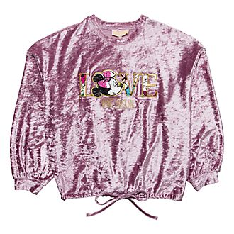 Disneyland Paris Minnie Bohème Velvet Sweatshirt