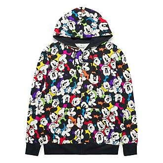 Disneyland Paris All-Over Mickey Zip Hoodie for Adults - Colour Spot Collection