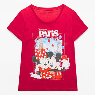 Disneyland Paris Mickey and Minnie Mouse Souvenir T-Shirt for Adults