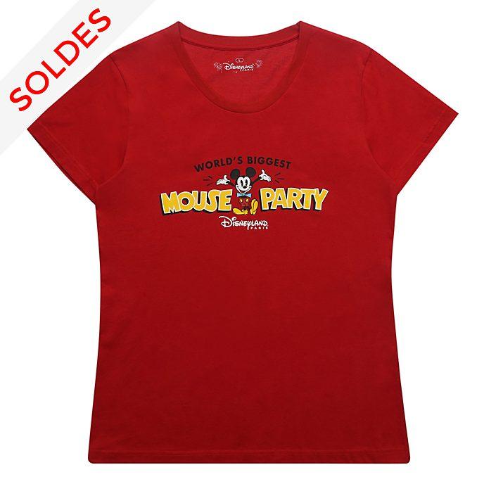 Disneyland Paris T-shirt Mickey rouge pour femmes