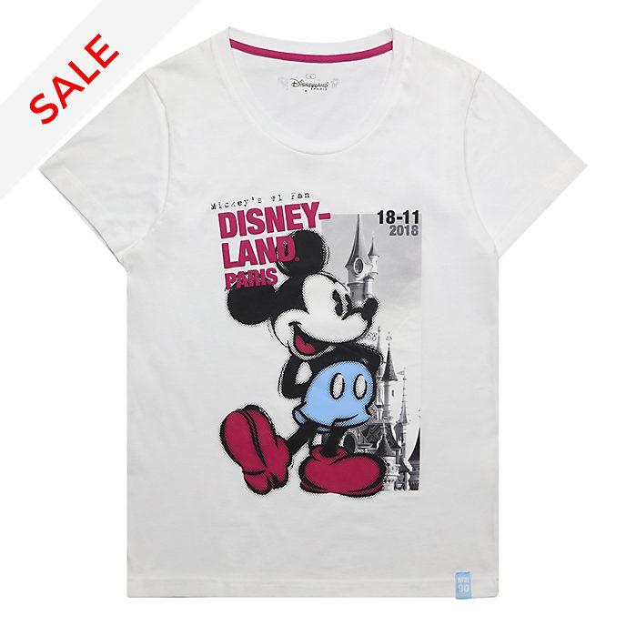 Disneyland Paris Mickey Mouse Ladies' White T-Shirt