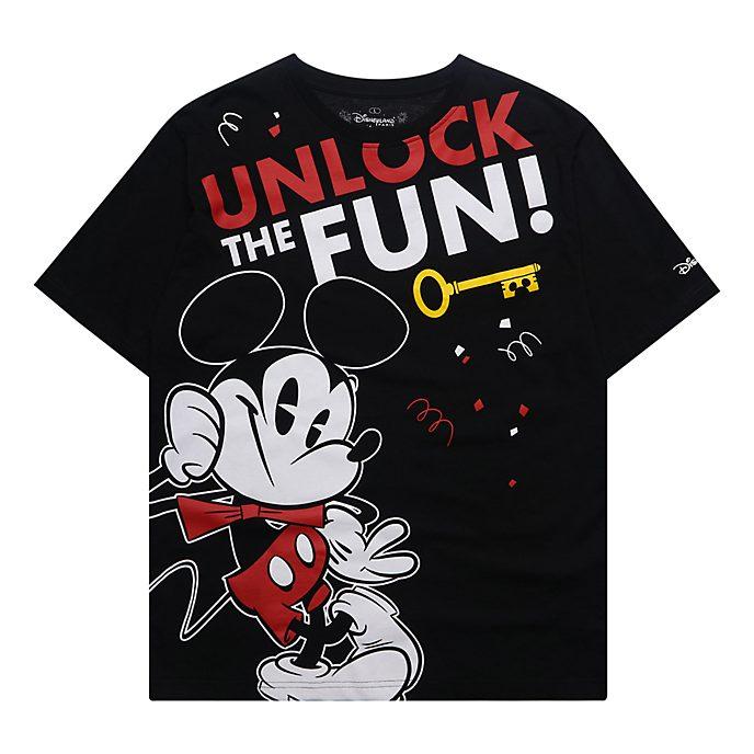 Disneyland Paris T-shirt Mickey noir pour adultes