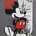 Disneyland Paris T-shirt Mickey gris pour adultes