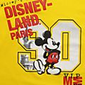 Disneyland Paris T-shirt Mickey jaune pour adultes