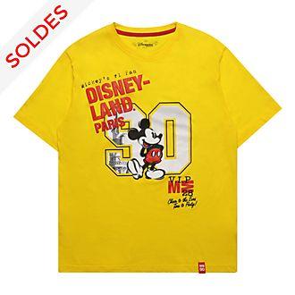Disneyland Paris T-shirt Mickey jaune pour adultes