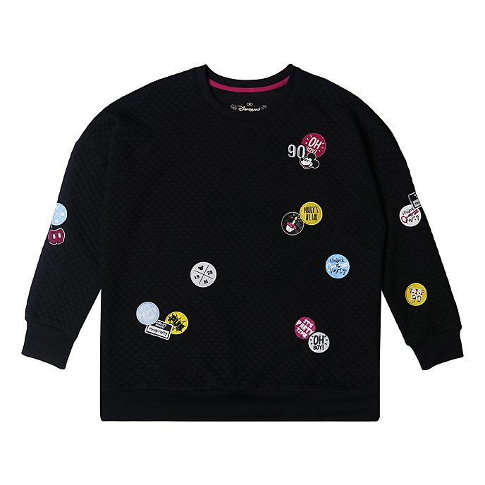 Disneyland Paris Mickey Mouse Black Sweatshirt For Adults
