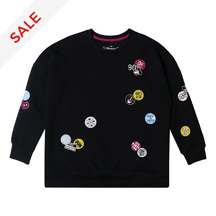 Disneyland Paris Mickey Mouse Black Sweatshirt For Adults
