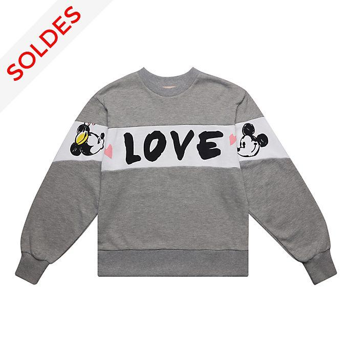 Disneyland Paris Sweatshirt Mickey et Minnie gris pour adultes