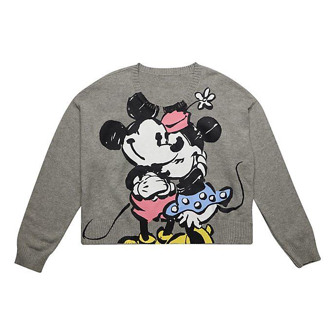 Disneyland Paris Pull Mickey et Minnie gris pour adultes