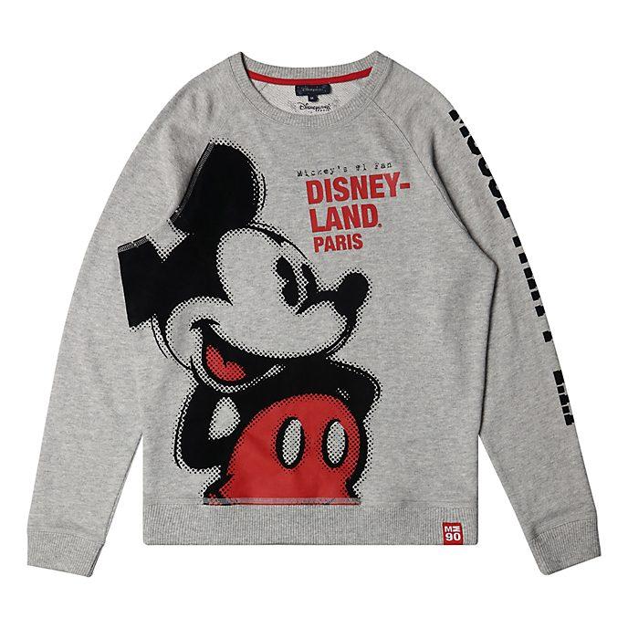 Disneyland Paris Mickey Mouse Grey Sweatshirt For Adults