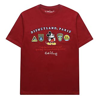Disneyland Paris Mickey Mouse Red Logo T-Shirt For Adults
