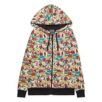 Sweat à capuche zippé vintage pour adultes Marvel Disneyland Paris