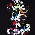 T-Shirt pour adultes silhouette Mickey Disneyland Paris - Collection Colour Spot