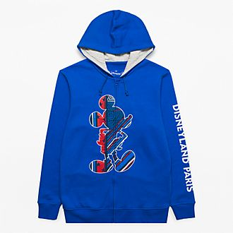 Disneyland Paris Mickey Silhouette Zip Hoodie for Adults - Rayures Rebelles Collection