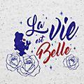 T-Shirt pour adultes La Vie est Belle Disneyland Paris