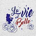 Disneyland Paris La Vie est Belle T-Shirt for Adults