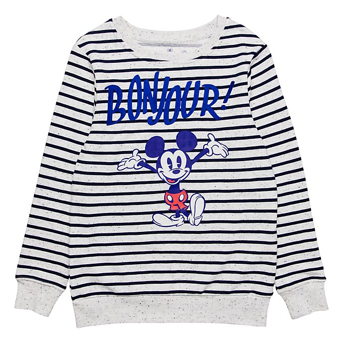 Disneyland Paris Striped Bonjour T-Shirt for Adults