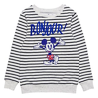 Disneyland Paris Striped Bonjour T-Shirt for Adults
