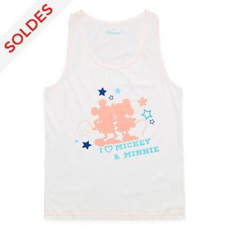 Ensemble de pyjama avec short pour adultes I Love Mickey & Minnie Disneyland Paris