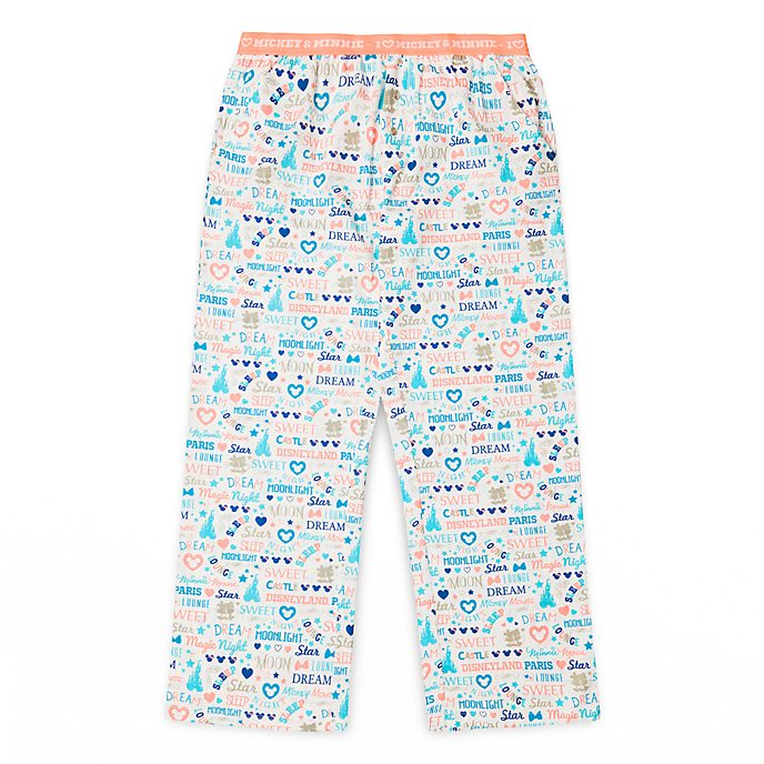 Pantalon de pyjama pour adultes I Love Mickey & Minnie Disneyland Paris