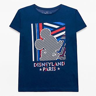 T-Shirt à rayures pour adultes Mickey Disneyland Paris - Collection Rayures Rebelles