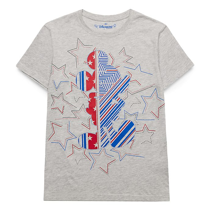 Disneyland Paris Mickey Stars and Stripes T-Shirt for Adults - Rayures Rebelle Collection