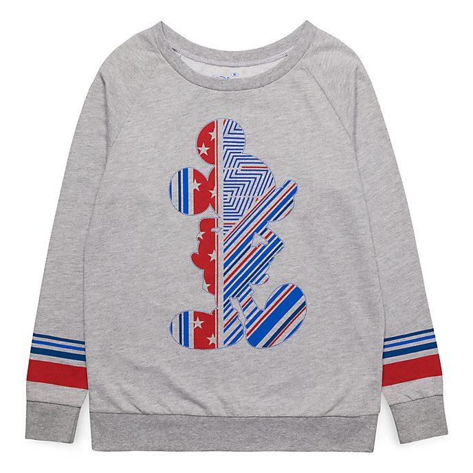 Sweatshirt pour adultes silhouette Mickey Disneyland Paris - Collection Rayures Rebelles