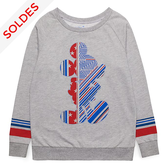 Sweatshirt pour adultes silhouette Mickey Disneyland Paris - Collection Rayures Rebelles